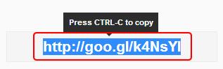 Google url shortener2